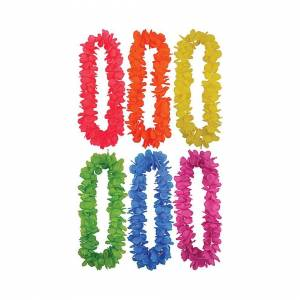 Bristol Novelty Pack of 12 Hawaiian Leis (Asstd Colours) 100cm
