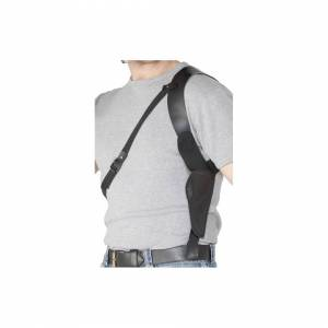 Unbranded Smiffy's Shoulder Holster Black Leather Look -  holster leather look shoulder fa