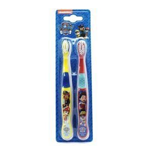 Nickelodeon Paw Patrol Toothbrushes 2 Pack (Yellow/Red)