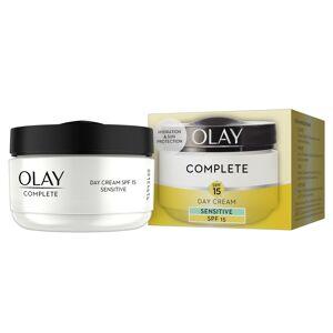 Olay 3-In-1 Day Cream Sensitive Moisturiser Essentials Complete Care SPF15 50ml