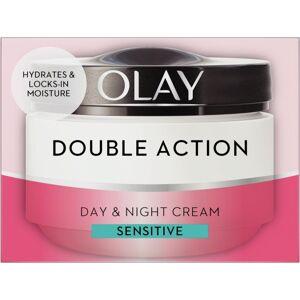 Olay Double Action Moisturiser Day Sensitive Cream And Primer Classic Care 50ml