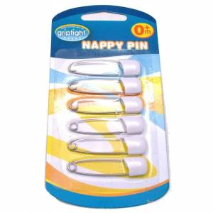 Griptight - 6 Strong Safety Nappy Pins