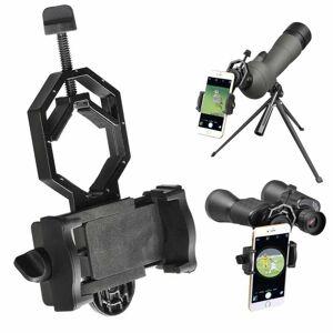 Unbranded Black Mobile Phone Adapter Holder Telescope Mount For Smartphones UK