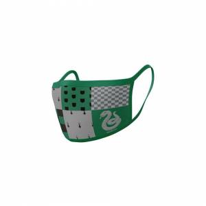 Harry Potter 2 x Harry Potter Slytherin Adult Cotton Protective Face Masks