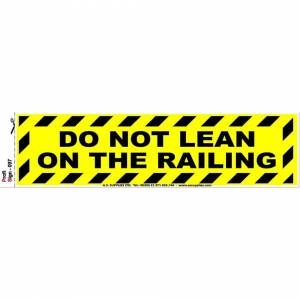A.S. Supplies Ltd. (Do not lean on the railing) Safety Signs Health Hazard Toilet Mandatory Warning