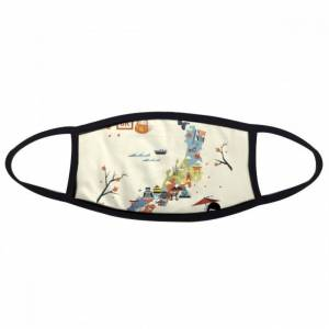 DIY THINKER Traditional Japanese local cultural Map Face Anti-dust Mask Anti Cold Maske Gift