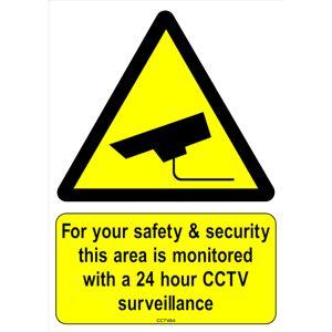 A.S. Supplies Ltd. (A7) CCTV Stickers Health Safety Self Adhesive A4 A5 A6 A7 Sizes
