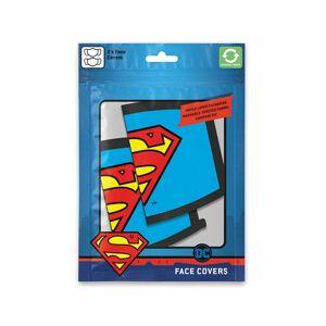 DC Comics Official DC Comics Superman Logo Face Masks (2 Pack)