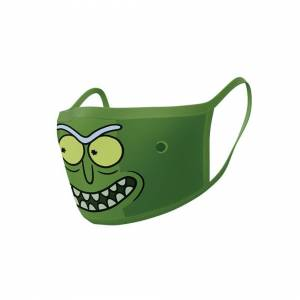 Rick And Morty Official Rick & Morty Pickle Rick Face Masks (2 Pack)