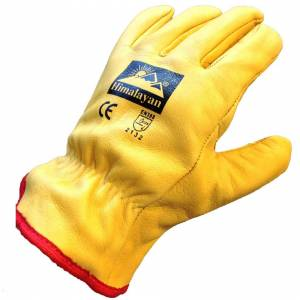 Himalayan (Large - Size 9) Himalayan H310 Fleece-Lined Leather Gloves   Thermal Work/Drive
