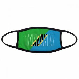 DIY THINKER Tanzania Country Flag Name Mouth Face Anti-dust Mask Anti Cold Warm Washable Cot
