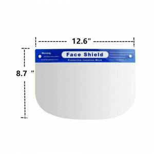 Unbranded (2 Pcs) Face Shield Full Face Visor Protection Mask Clear