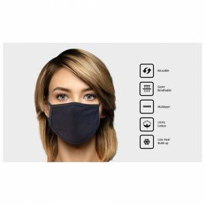 Unbranded Reusable Multilayer Cotton Mask - 3 Pack