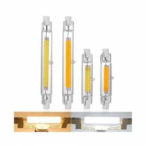 Slowmoose (Cold White, 40W 118MM) LED R7S Glass Tube COB Bulb Corn Lamp Replace Halogen Li
