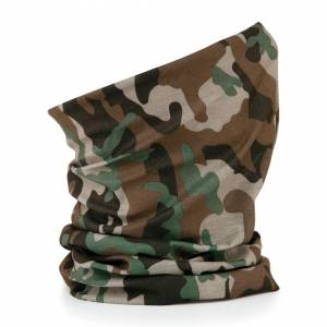 Beechfield (Jungle Camo) Beechfield 3 in 1 Snood Face Cover Morf Original Neck Mask Warm Br