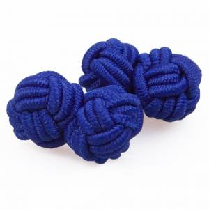 DQT Royal Blue Knot Cufflinks