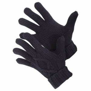 Universal Textiles (M/L, Navy) Mens Cable Knit Winter Gloves