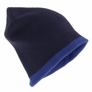 Universal Textiles (One Size, Navy/Blue) Mens Reversible Winter Beanie Hat