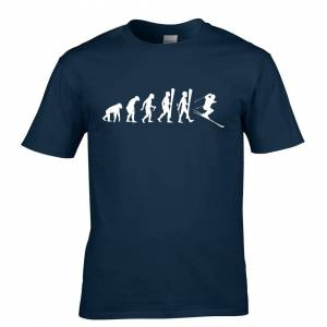 Tim And Ted (XXL, Navy Blue) Sports T Shirt The Evolution Of A Ski Jumper Skiing Winter Snow