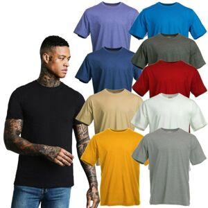 Blue Mountain (Denim, XXL) Blue Mountain Basics Men's Short Sleeve Plain Casual Cotton Tee Shi