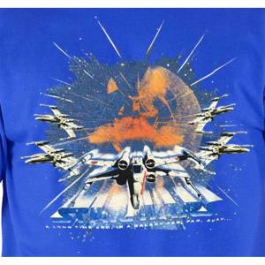 Star Wars T Shirt X-Wing Fighter new Official Mens Blue