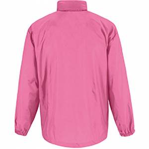 B And C (L, Pixel Pink) B&C Sirocco Mens Lightweight Jacket / Mens Outer Jackets