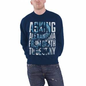 Asking Alexandria (S, Blue) Asking Alexandria From Death To Destiny Official Mens Blue Sweatshirt