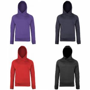 Just Cool (M, Purple) Just Cool Mens Plain Sports Hooded Sweatshirt / Hoodie