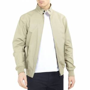Brave Soul (L, Grey) Brave Soul Mens Reactive Long Sleeve Harrington Full Zip Bomber Jacket