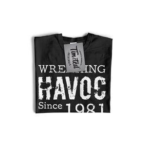 Tim And Ted (XXL, Khaki) Mens 40th Birthday T Shirt Wreaking Havoc Since 1981 Tee