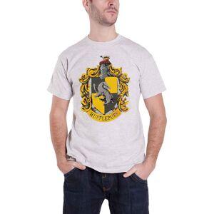 Harry Potter (S, Grey) Harry Potter T Shirt Hufflepuff House Crest Logo new Official Mens Gre