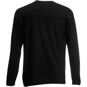 Universal Textiles (Medium, Jet Black) Mens Value Long Sleeve Casual T-Shirt