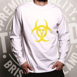 Tim And Ted (L, Black) Warning Logo Long Sleeve Biohazard Symbol Novelty Design Danger Sign
