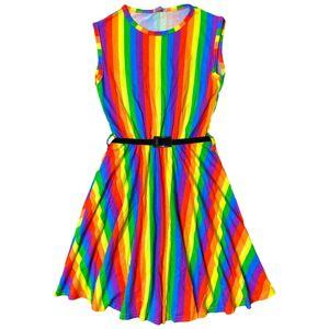 a2zkids (13 Years, Skater Dress) Kids Girls Rainbow Crop Top T Shirt Legging Off Shoulde