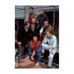 TV Times (XX-Large) TV Times Cast Of Auf Wiedersehen Pet Men's T-Shirt