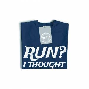 Tim And Ted (XXL, White) Novelty T Shirt Run? I Thought They Said Rum Slogan Pirate Skull Cr