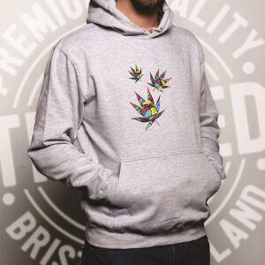 Tim And Ted (S, White) Cannabis Hoodie Trippy Weed Rainbow Art Marijuana Hemp THC Culture Ga