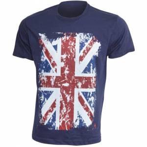 GB Eye Limited (M - 38inch - 40inch, Navy) Mens Union Jack GB Print 100% Cotton Short Sleeve Ca