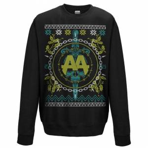 Asking Alexandria (Medium) Asking Alexandria 'Christmas Light' (Black) Crew Neck Sweatshirt