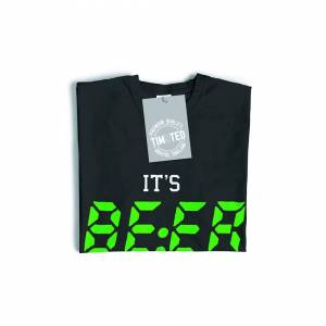 Tim And Ted (XXL, Navy Blue) Novelty Drinking T Shirt It's BEER O'Clock Slogan Pub Drunk Tim
