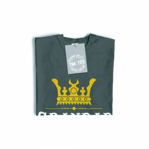 Tim And Ted (XXL, Black) Father's Day T-Shirt - Grandad, The King Of Mischief Novelty Slogan