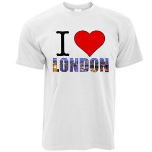 Tim And Ted (XXL, White) Tourist T Shirt I Love London England Slogan United Kingdom Queen P