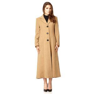 De La Creme (Camel, 20) De La Creme Women's Longline Slim Fit Wool Coat