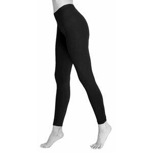 21Fashion (Black, UK 10 US 6) Womens Plain Cotton Full Length Yoga Legging Pants
