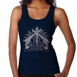 Cloud City 7 (Medium, Navy Blue) Supernatural Winchester Family Business Women's Vest