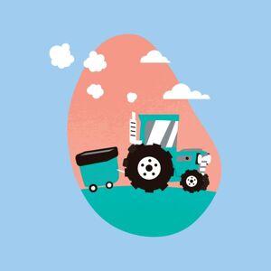 Cloud City 7 (Large, Sky Blue) Doodle Tractor Women's T-Shirt