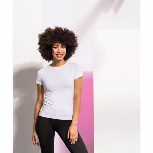 Skinni Fit (S, White) Skinni Fit Womens/Ladies Feel Good Stretch Short Sleeve T-Shirt