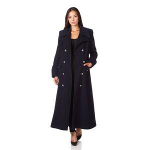 De La Creme (UK 18/EU 44/US 16, Navy) De La Creme - Women's Wool & Cashmere Blend Double Bre