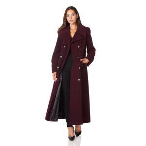De La Creme (UK 16/EU 42/US 14, Wine) De La Creme - Women's Wool & Cashmere Blend Double Bre