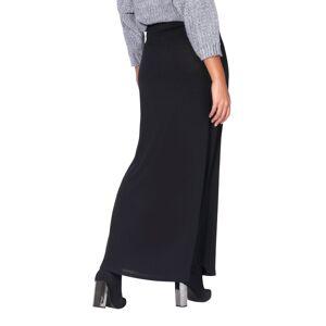 KRISP (Black, 18) High Waist Knitted Maxi Skirt